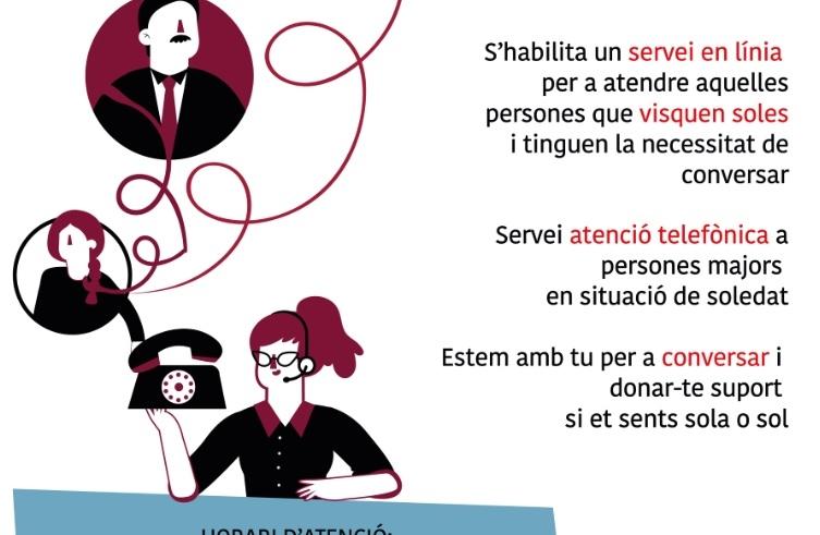 Solidaritat Torrent ayuda a las personas mayores con el 'Teléfono solidario amigo'