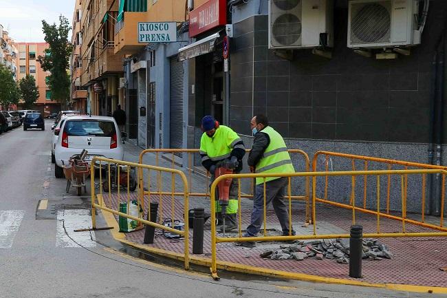 En marcha las obras de mejora de la calle Federico Maicas