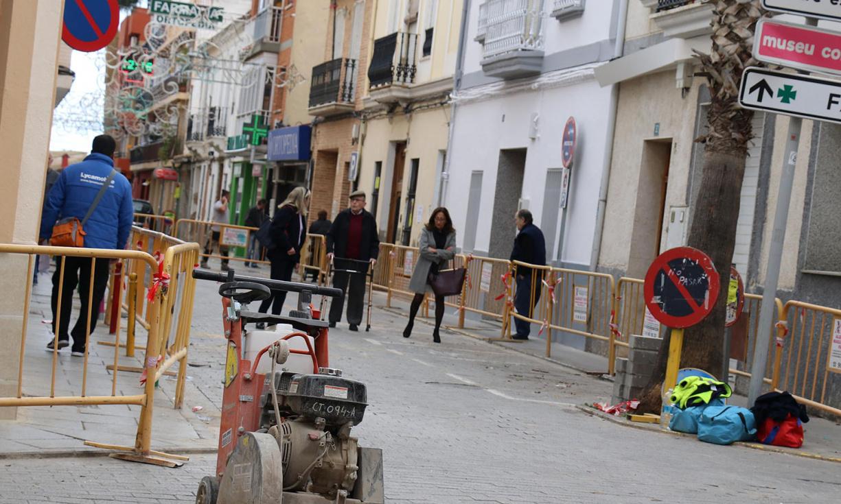 Comienza la remodelación de la calle Santos Patronos