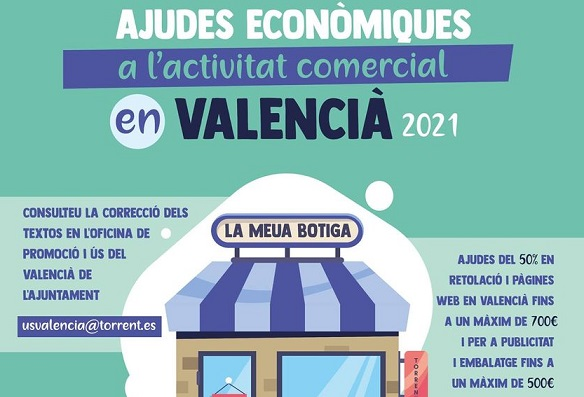 Torrent apoya al comercio con las ayudas a la actividad en valenciano
