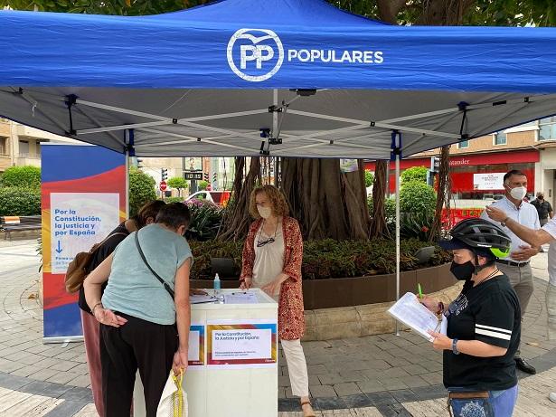 El PP de Torrent recoge más de 400 firmas contra los indultos a los políticos independentistas
