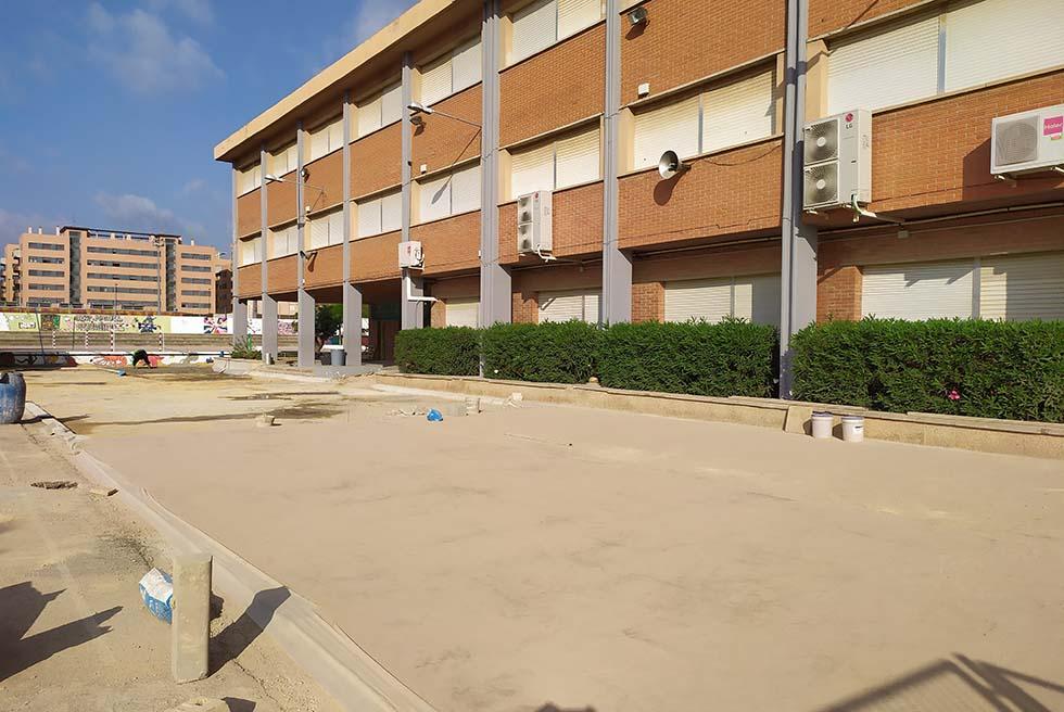 Las obras de los centros escolares avanzan durante el mes de agosto
