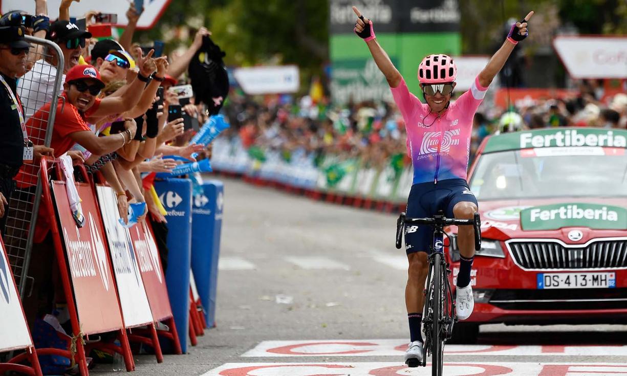 El colombiano afincado en Torrent, Sergio Higuita gana la etapa 18º de La Vuelta