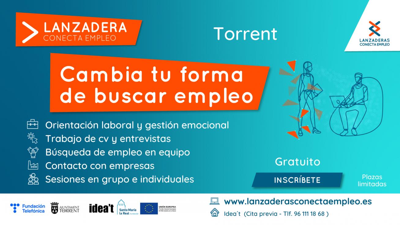 Torrent contará a partir de octubre con una nueva Lanzadera Conecta Empleo