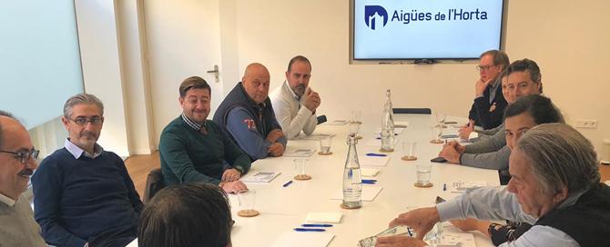 L'Associació d'Empresaris de Torrent visita les instal·lacions d'Aigües de l'Horta