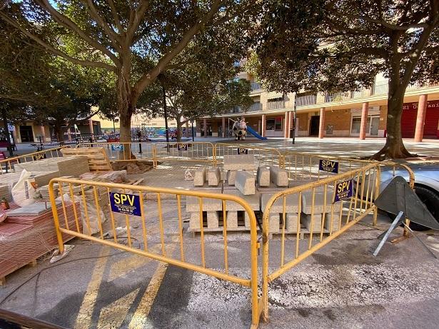 Continuen les obres de millora del carrer Marquesat i Verge del Puig