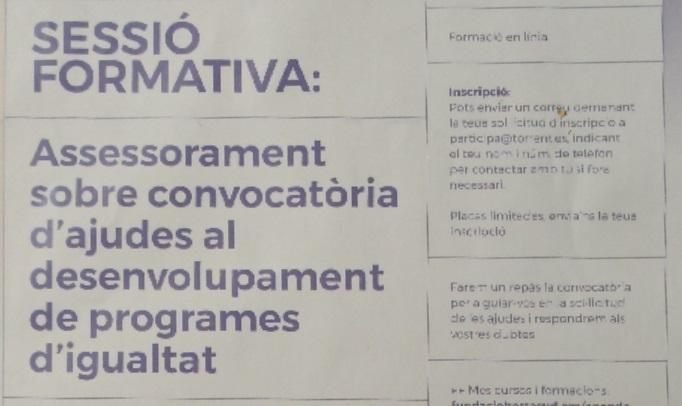 Les associacions de dones rebran assessorament per a optar a ajudes de fins a 15.000€