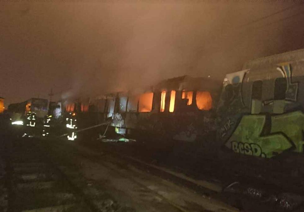 Crema un vagó abandonat en les cotxeres del metro