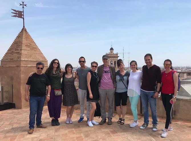 Professors Erasmus visiten la Torre de Torrent