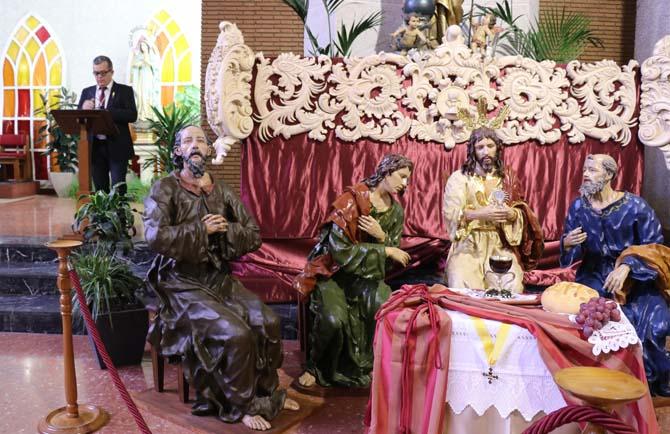 Primera fase escultòrica del pas de la Santa Cena