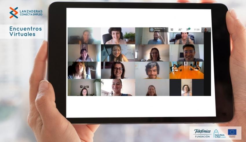 """Videoconferència amb els participants de la nova """"Llançadora Connecta Ocupació"""" de Torrent"""