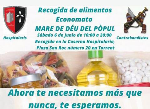Hospitalaris i Contrabandistes arrepleguen aliments per a l'Economato