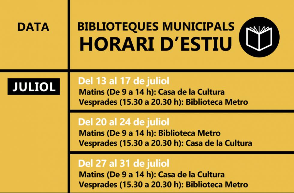 Les biblioteques presenten activitats literàries per a aquest estiu