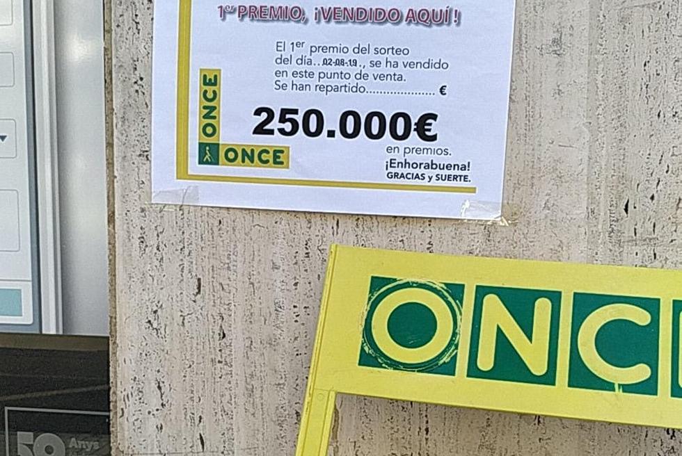 Cau a Torrent un Premi de 250.000 de la ONCE