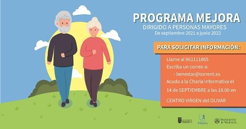 Torrent prepara un programa pilot per a promoure l'envelliment actiu