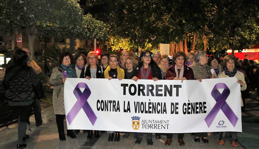 Torrent es manifesta contra la violència de gènere