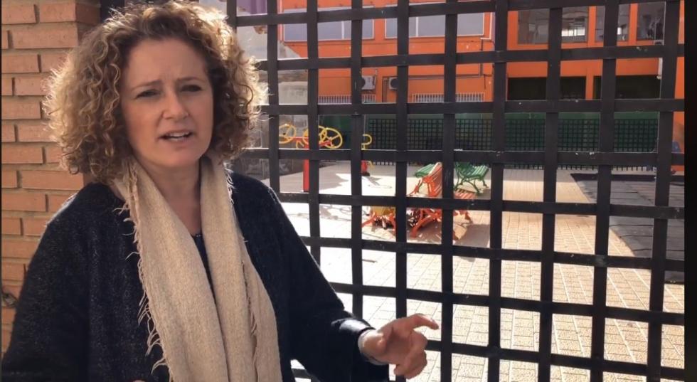 Amparo Folgado reclama que el parc infantil de Sant Marc porta mig any tancat